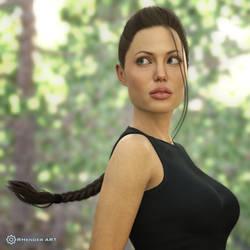 Angelina Jolie as Lara Croft 3D - RHenderART by AndersonGSM