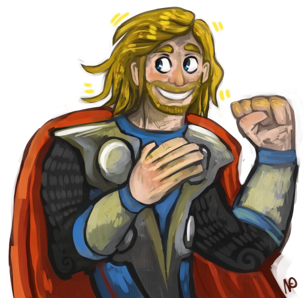 Cartoony Thor by burmalloo