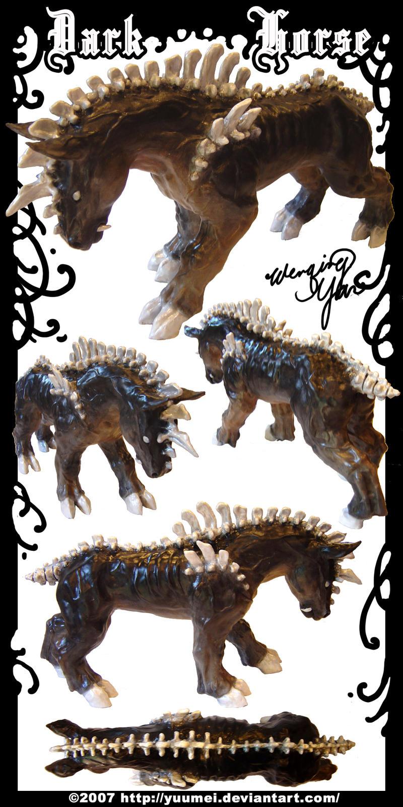 Dark Horse Sculpture by yuumei