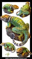 Lizard Sculpture by yuumei