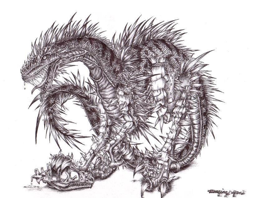 my evil dragon devil thingie by yuumei on DeviantArt