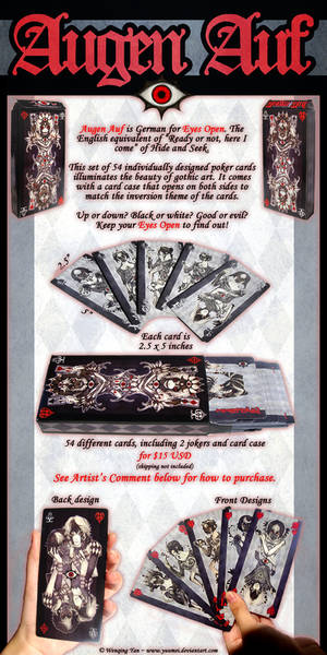 Augen Auf Playing Card Ad