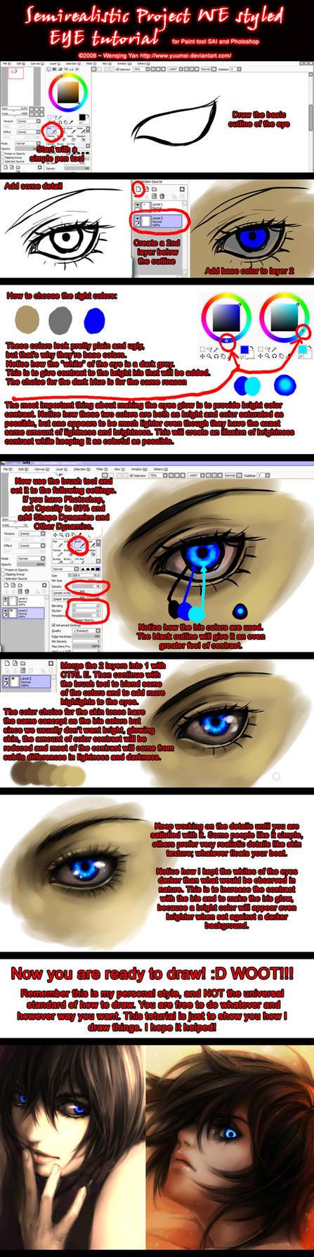 Semirealistic Eye Tutorial by yuumei