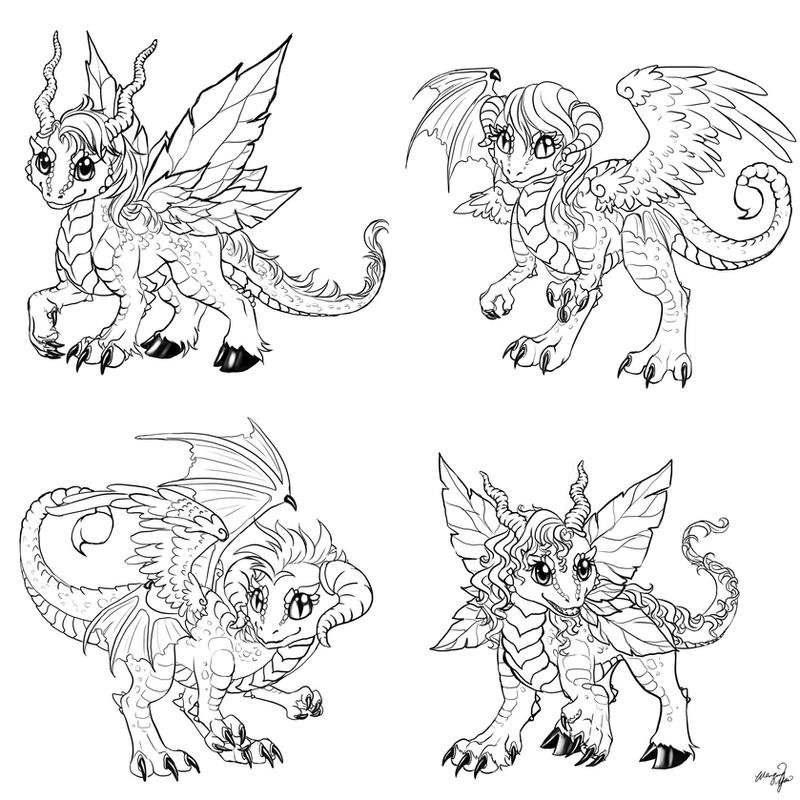 It's just a photo of Adorable Chibi Dragon Drawing