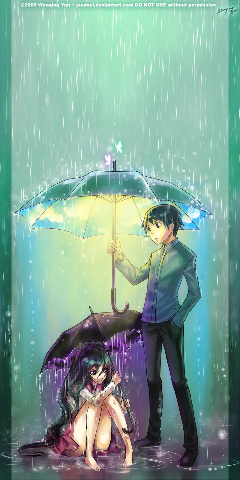 anime girl umbrella