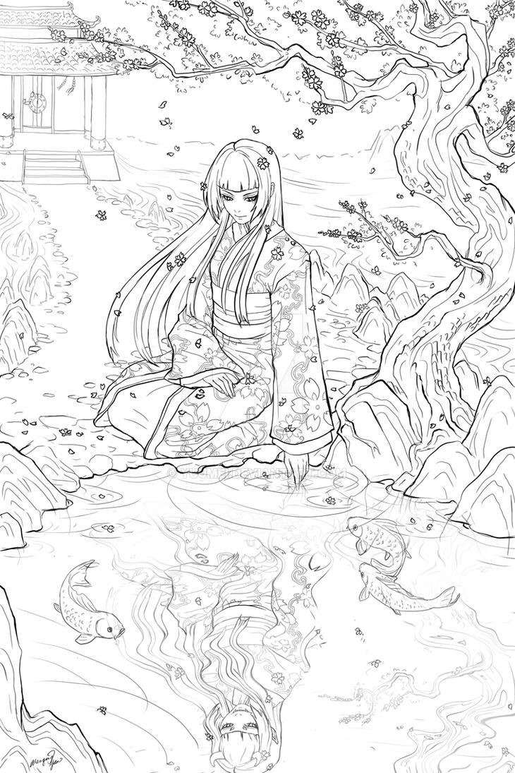 Geisha Commission by yuumei