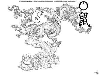 DragonBonzai tattoo Commission by yuumei