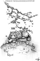 White Tiger Commission by yuumei