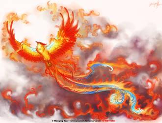 Phoenix tattoo commission by yuumei