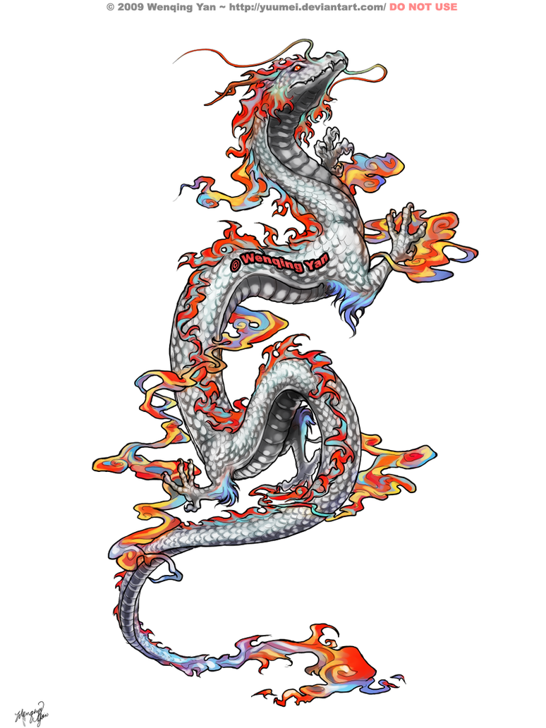 Dragon Tattoo Commission by yuumei