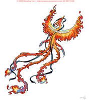 Fiery Pheonix Tattoo by yuumei