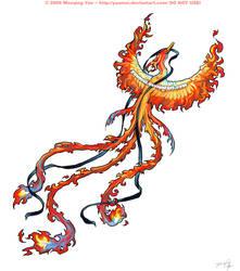 Fiery Pheonix Tattoo by yuumei