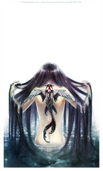 Curse of the Winged Koi by yuumei