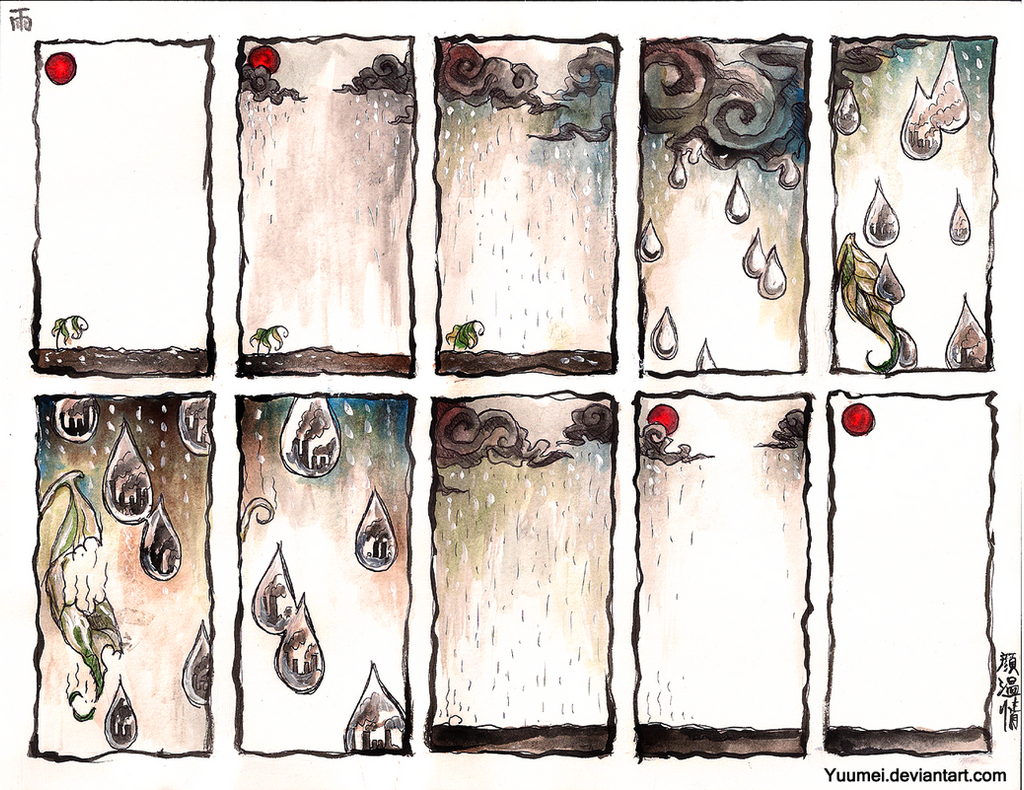 Rain by yuumei