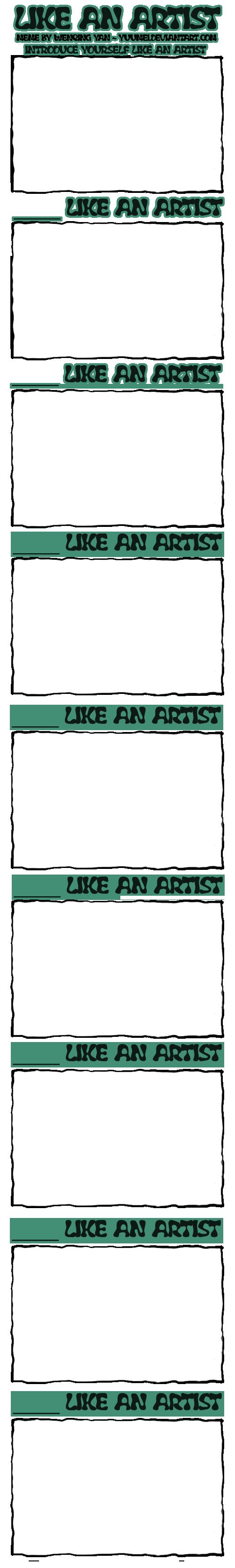 LIKE AN ARTIST Meme n Contest by yuumei