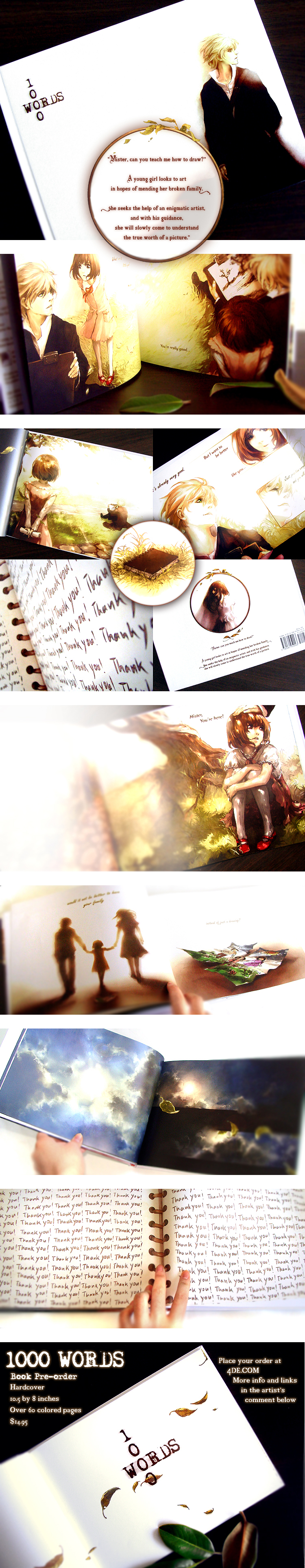 1000 WORDS Book Pre-order w/ photos by yuumei