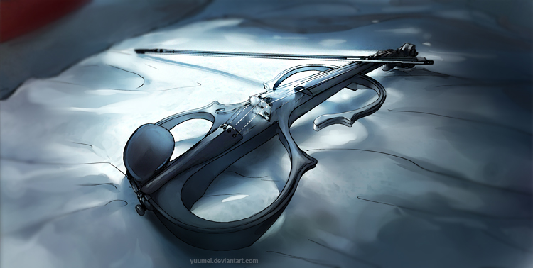 Fisheye Placebo: Electric Violin by yuumei