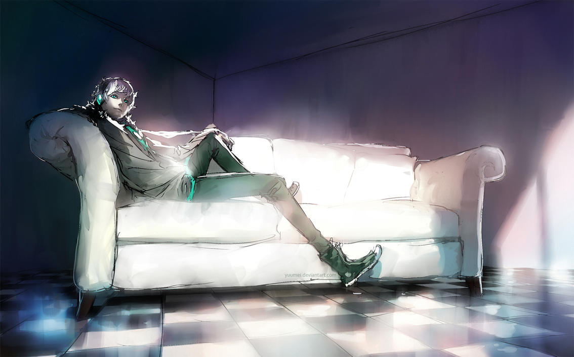 Fisheye Placebo: Complacent by yuumei