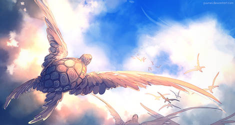 Sky Turtle by yuumei