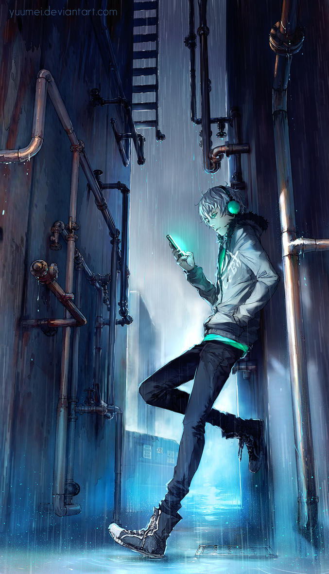Under Rain by yuumei