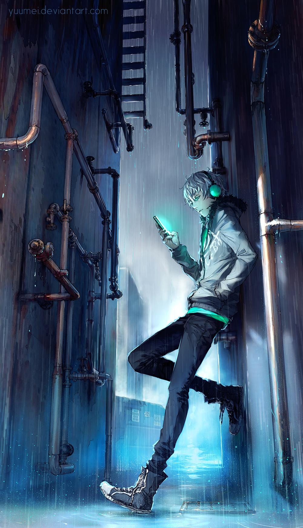 Under Rain by yuumei
