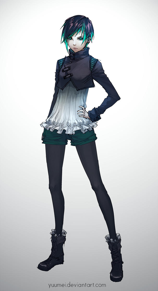 Victorian Cyberpunk Outfit Design by yuumei