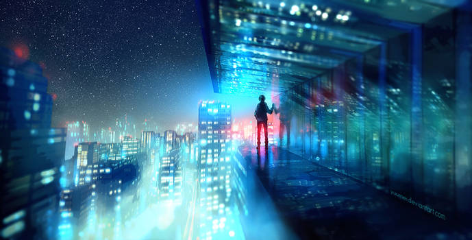 Above the Lights by yuumei