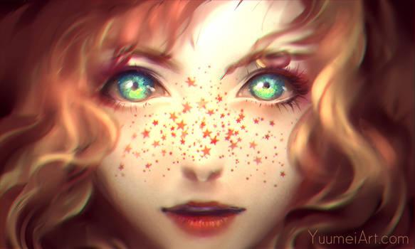 Sprinkles of Stars by yuumei