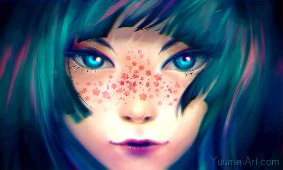 Sakura Freckles (Speedpaint Video linked)