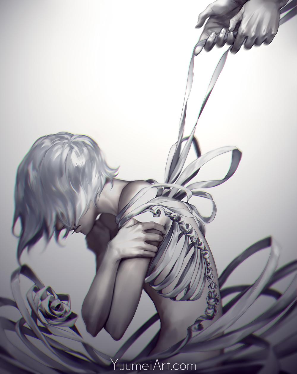 women tied up in tears