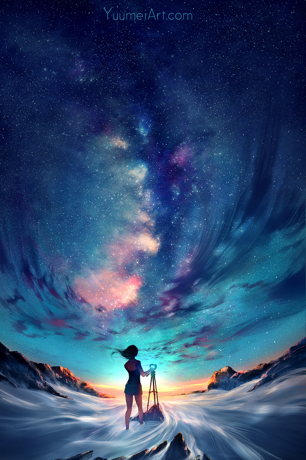 Capture the sky by yuumei on deviantart for Beautiful drawings and paintings