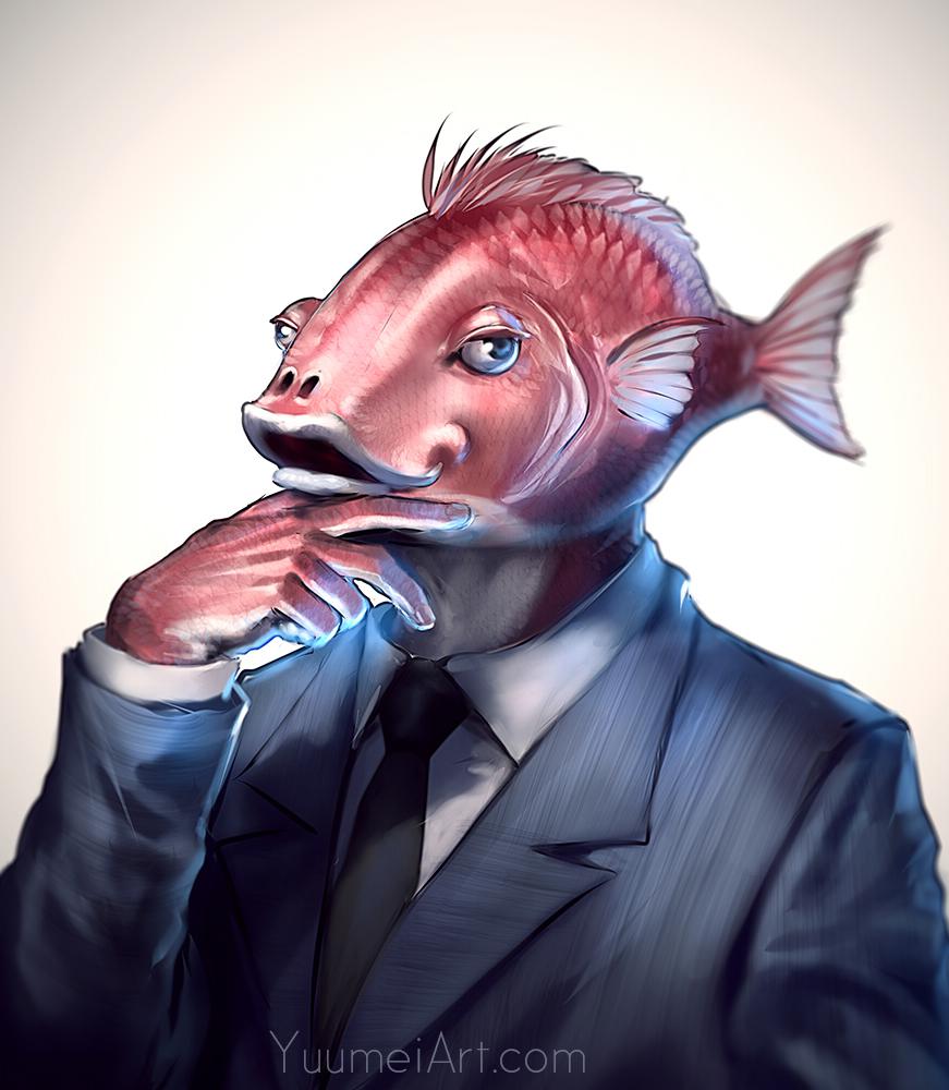 War of the Fishfolk [Mini Arc Starter] Business_fish_by_yuumei-d9yjrtt