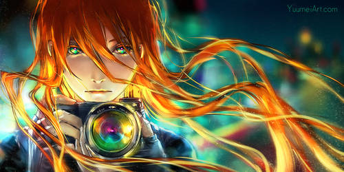 Through the Distorted Lens by yuumei