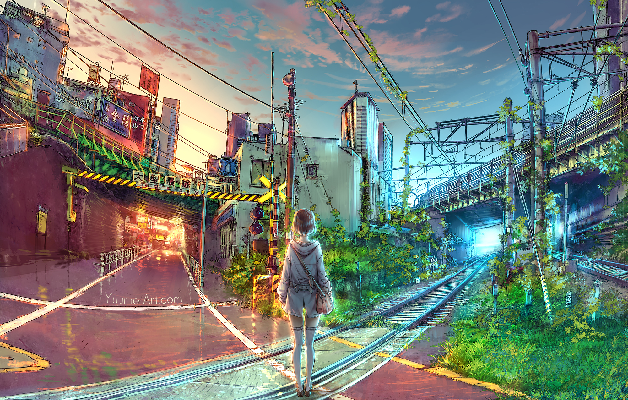 At The Crossroads by yuumei