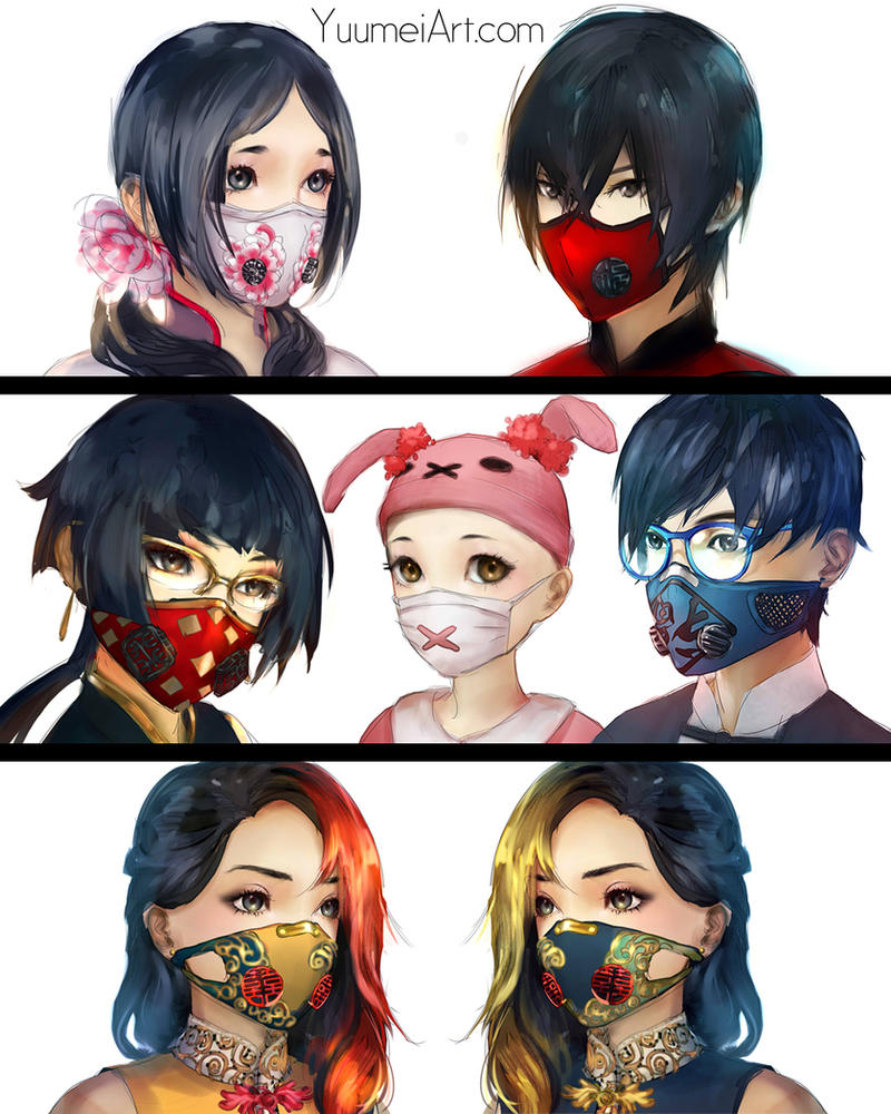 Knite masks by yuumei