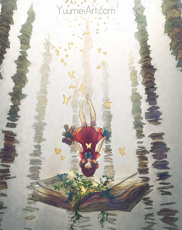 Falling into Dreamland by yuumei