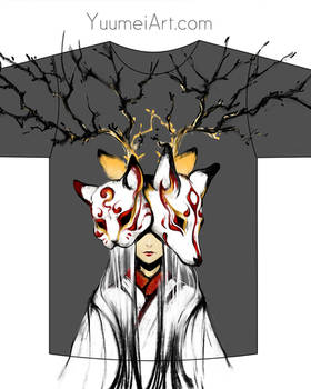 Japanese Mask T shirt design