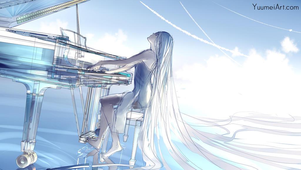 Glass Violin V2 by yuumei