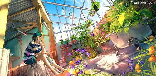 Hidden Paradise by yuumei