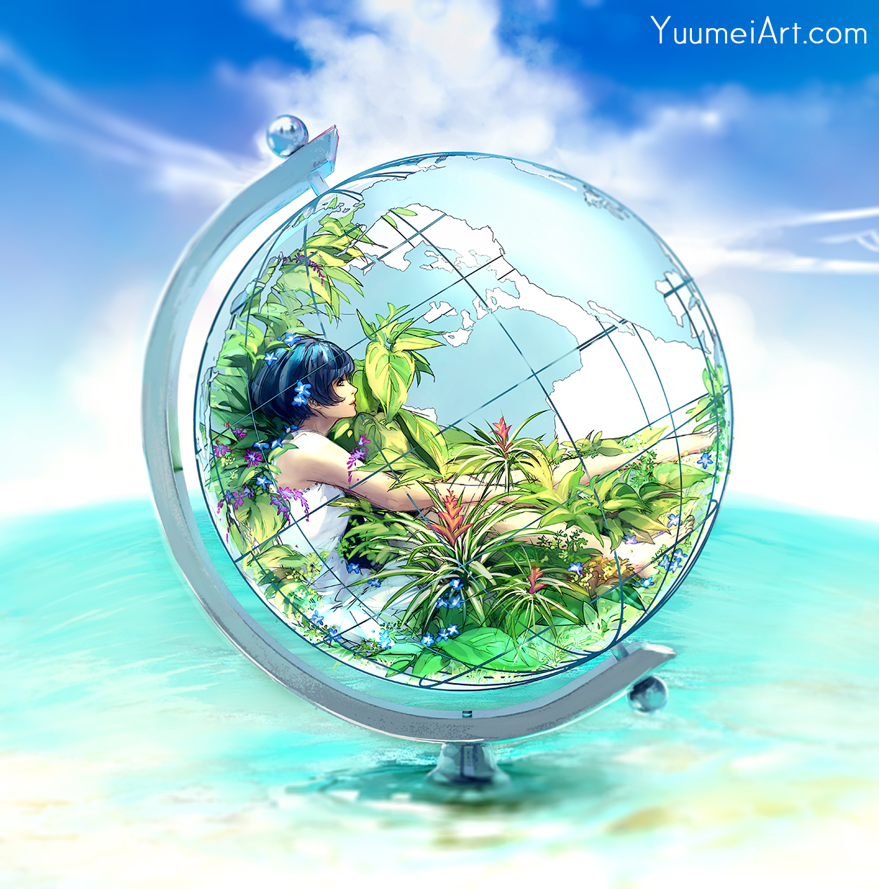 Paradise Within by yuumei