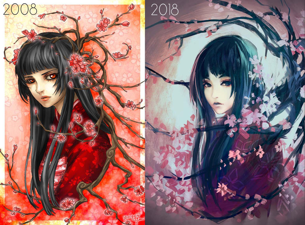 Draw this again! - Flower Maiden by yuumei