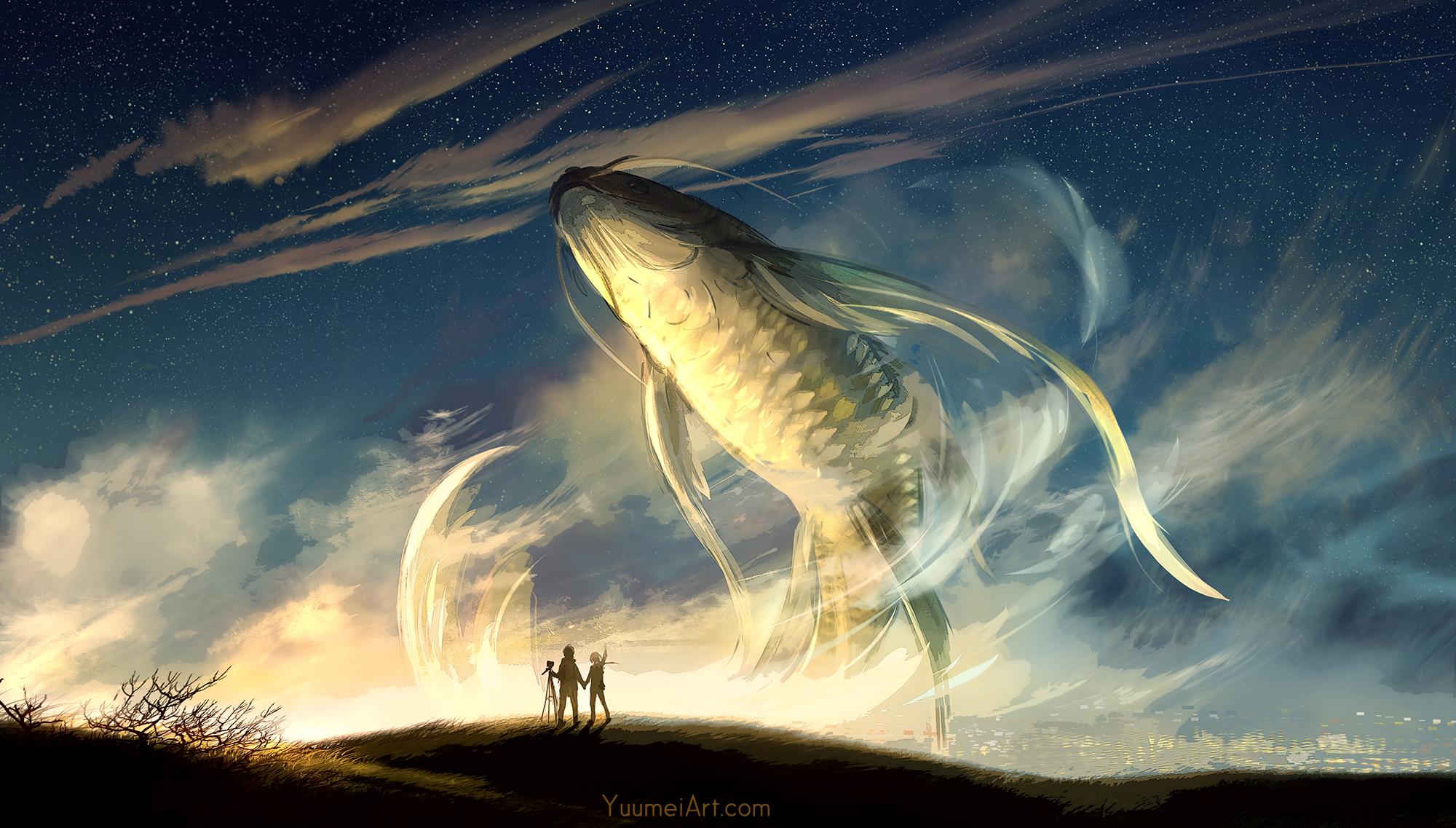 Twilight In Koi Pond >> Koi