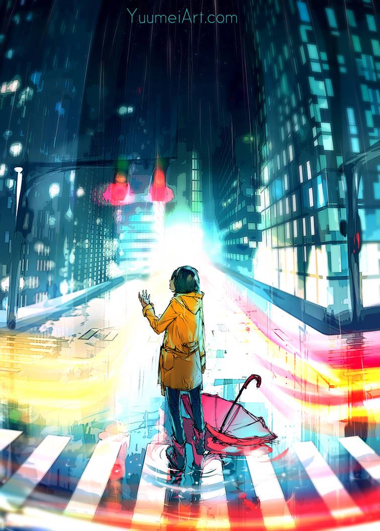 City Night Speedpaint  Tutorial Video Linked  By Y by yuumei