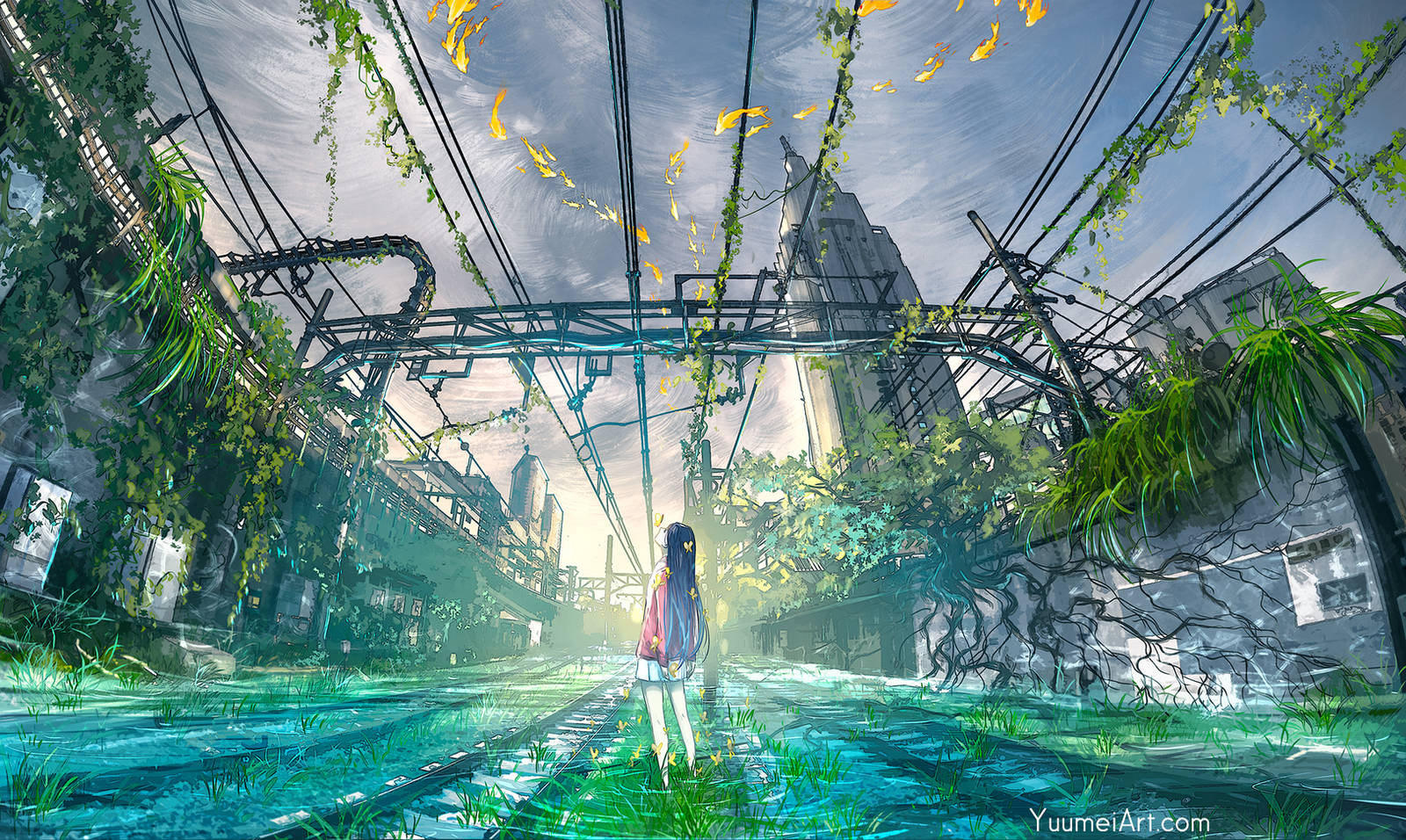When the Rain Passes by yuumei