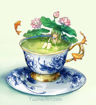 Matcha Bath by yuumei