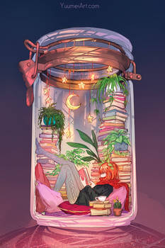Terrarium Life 4 - Books and Stars