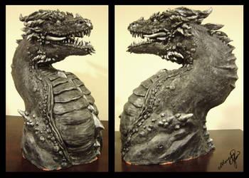 Dragon Sculpture by yuumei