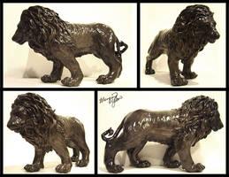 Lion Sculpture by yuumei