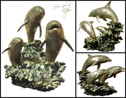 Dolphin Sculpture by yuumei