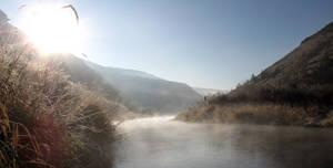 Morning on Deschutes River by GreyStork